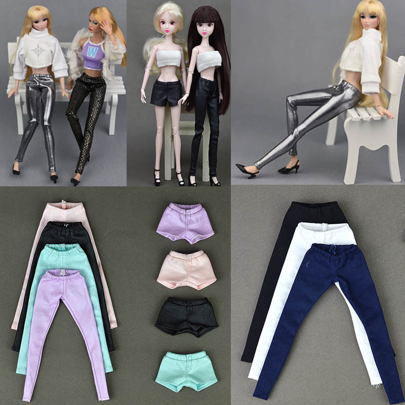 Doll Barbies Colorful Elastic Slim Bottoms Pants Trousers For Ken <font><b>Clothes</b></font> Girl Toy Fashion Outfit For <font><b>1/6</b></font> <font><b>BJD</b></font> Doll Accessories image