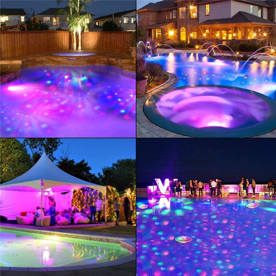 piscina decorações de festa luzes bateria operado