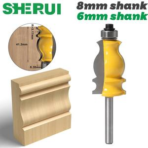 1PC 8mm 6mm Shank Architectural Cemented Carbide Molding Router Bit Trimming Wood Milling Cutter for Woodwork Cutter Power Tools(China)