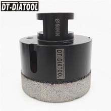 цена на DT-DIATOOL 1pc M14 Dia 60mm Dry Vacuum Brazed Diamond Drilling Core Bit Ceramic Tile Hole Saw Granite Marble Stone Drill Bit
