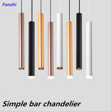 LED long tube cylindrical spotlight, hotel bar chandelier at the front desk, creative simple and personalized restaurant with as