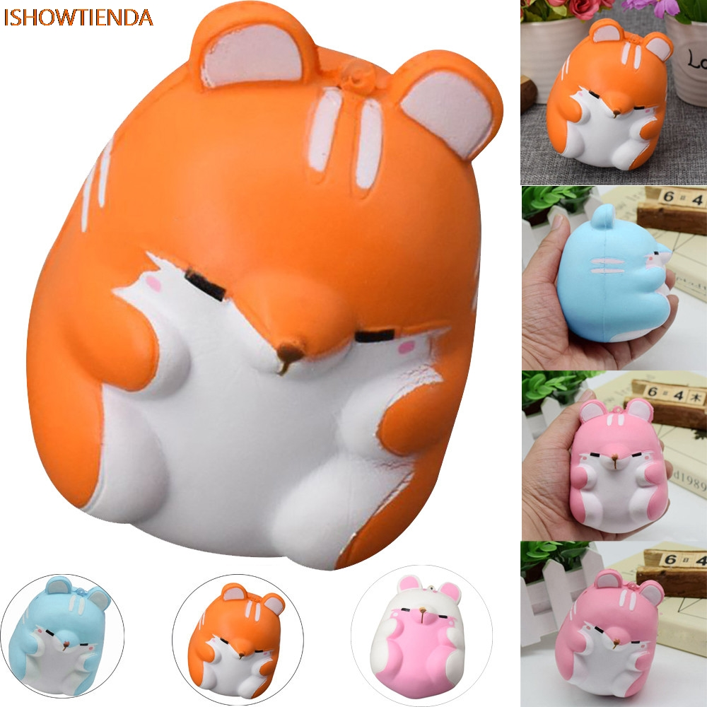 Fun Hamster PU Squishy Decor Slow Rising Kid Toy Squeeze Toy Relieve Anxiet Gift Toys Stress Relief Reliever Drop Shipping