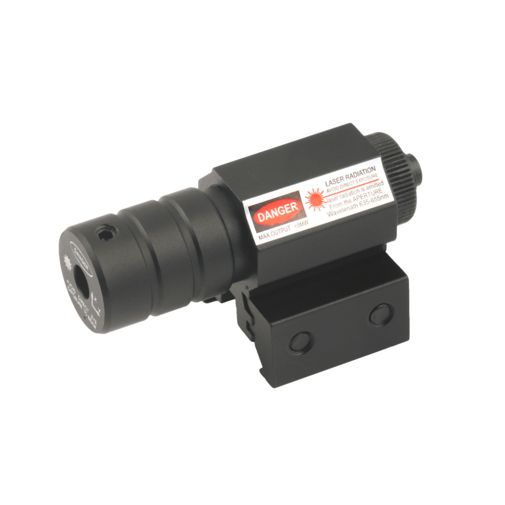 1 Set Tactical Red Laser Beam Dot Sight Scope Red Dot Riflescope For Gun Rifle Pistol Picatinny Mount For Hunting Drop Shipping