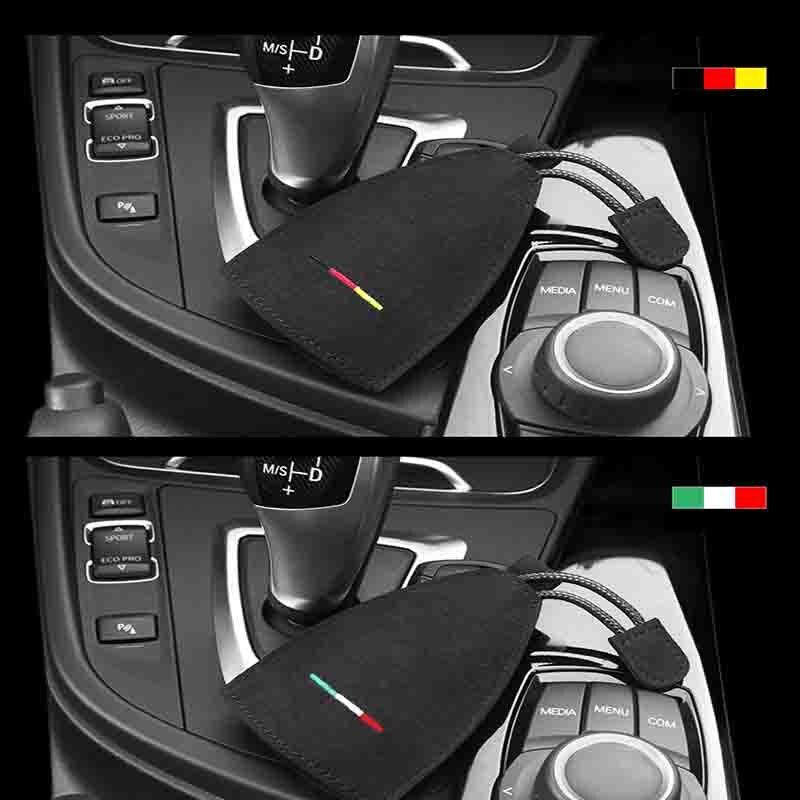Чехол для ключей с эмблемой автомобиля alcantara чехол bmw x1