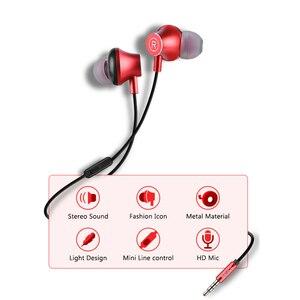 Image 3 - Senicc k2 3.5mm in ear fones de ouvido música fones de ouvido moda fone de ouvido com 4 pólo jack com microfone para almofada do telefone mp3 mp4 player