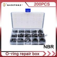 Borracha de nitrilo 200 pces o anéis resistente ao desgaste impermeável e resistente ao óleo o selo do anel nbr vedação o-anéis arruela de borracha oring se