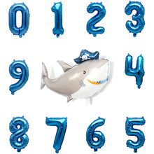 Digital Balloons Great White Shark Marine Life Aluminum Balloons Birthday Party Decoration Children's Ocean Theme Party Supplies(China)