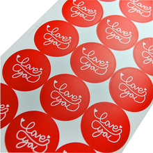 60pcs/pack Baking DIY Gift Box Stickers Cake Packaging Red Love You Round Seal Sticker