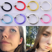 Abaicer New 8pcs Fake Nose Ring Ear Nose Clip On