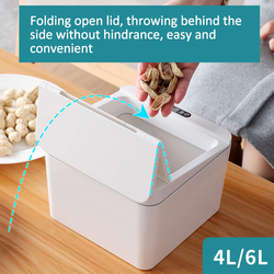 Mini Small Trash Can Automatic Touchless Smart Infrared Motion Sensor Rubbish Waste Bin For Table/Home/Kitchen