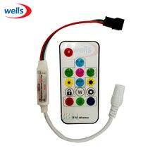 цены New 14key Mini-RF controller for  LED Strip WS2811 WS2812 WS2812B Controller 5V