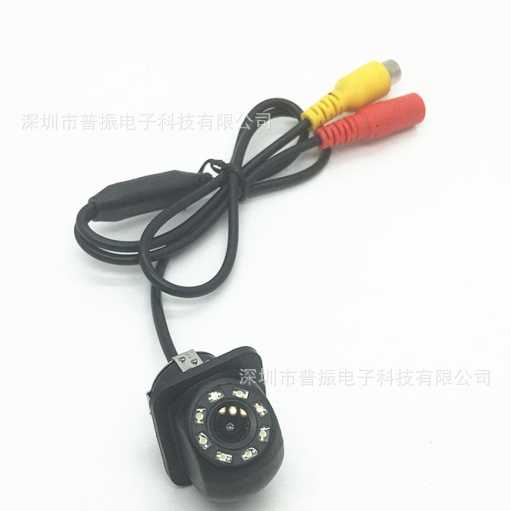 With 8LED Lamp Small Straw Hat Rearview Camera Car Mounted High-definition Night Vision Small Straw Hat PZ408-A