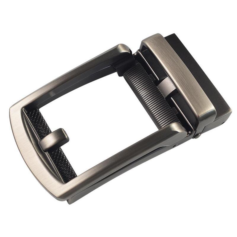1pc Men Fashion Simple Automatic Alloy Belt Buckle Replacement Ratchet Slide Belt Accessories DIY Leather Belt Craft Accessories