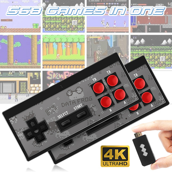 Handheld Game Console Childhood Retro Mini Classic 4K TV AV/HDMI 8 Bit 568/600 Video Game Console Handheld Gaming Player Gift coolbaby hdmi out retro classic handheld game player family tv video game console childhood built in 600 games for nes mini p n