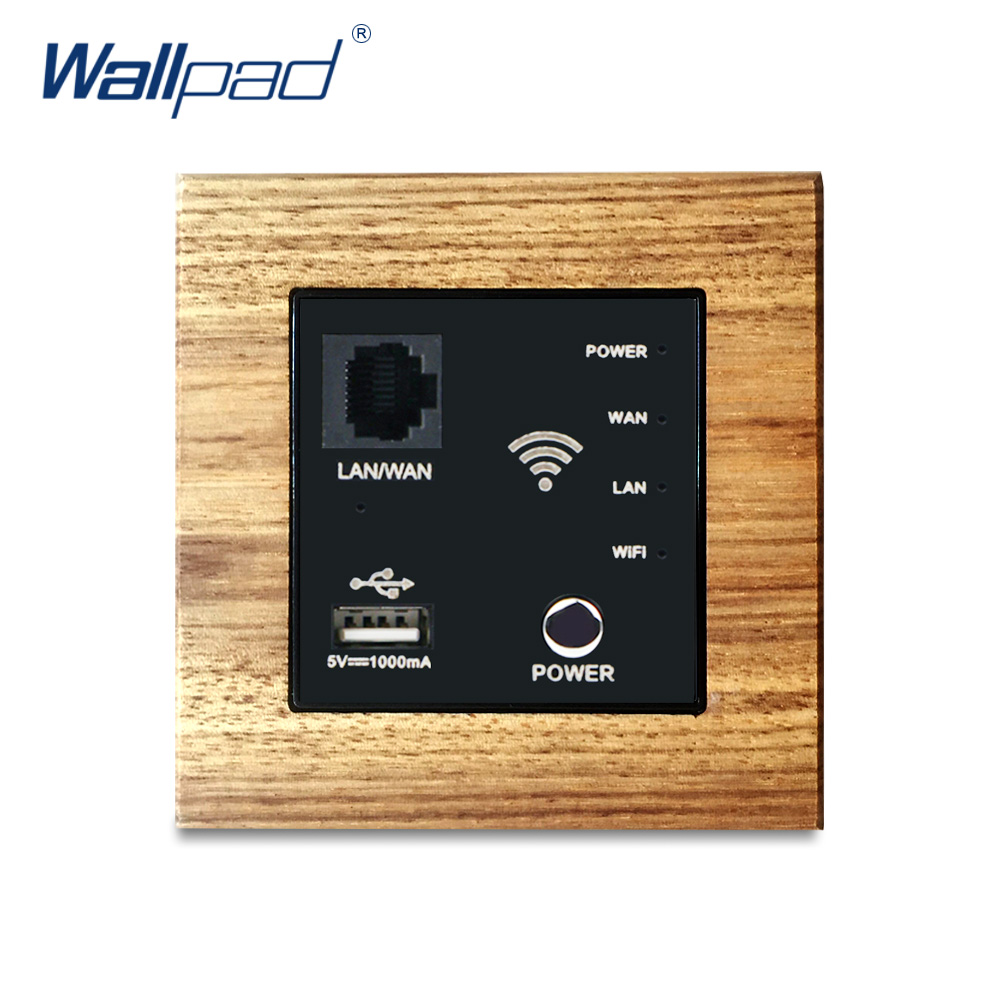 300M Wifi AP Router Wooden Panel Switches Wallpad Luxury Wall Light Switch Interrupteur 5V 1000MA