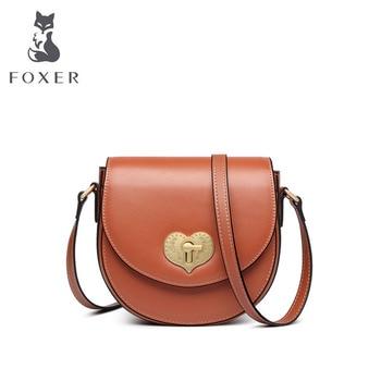 FOXER Women leather shoulder crossbody bags for women luxury handbags women bags designer bags famous brand women bags cowhide фото