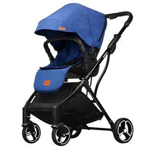 Image 4 - 2019 novo confortável de duas vias cor pura carrinho de bebê simples pára sol dobrável carrinho de bebê