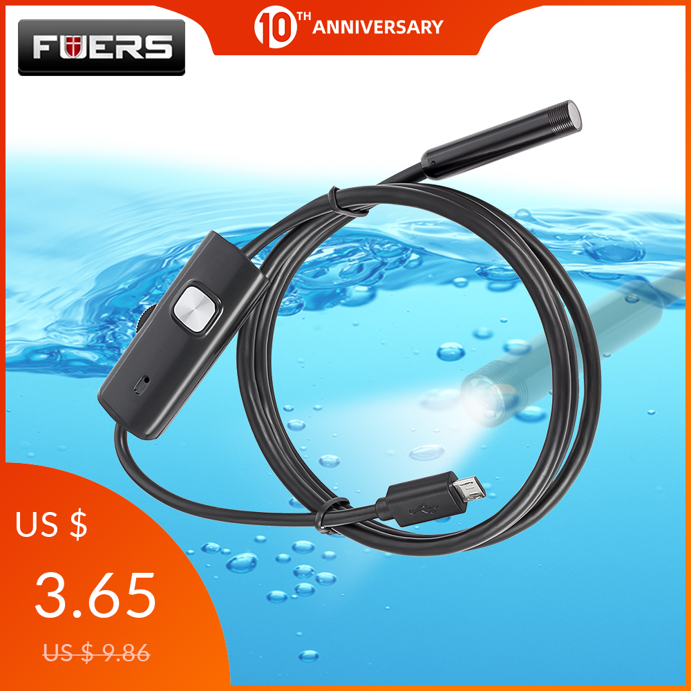 FUERS Borescope Phone Car-Inspection-Camera Waterproof Android 2M 1M 7mm for USB Mini title=