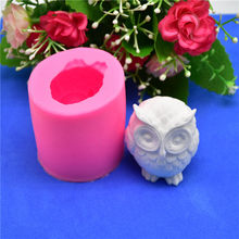 3D Owl Animal Silicone Soap Mold Resin Clay Candle Molds Fondant Cake Decorating Tools Chocolate Candy Pastry Cake Baking Molds(China)