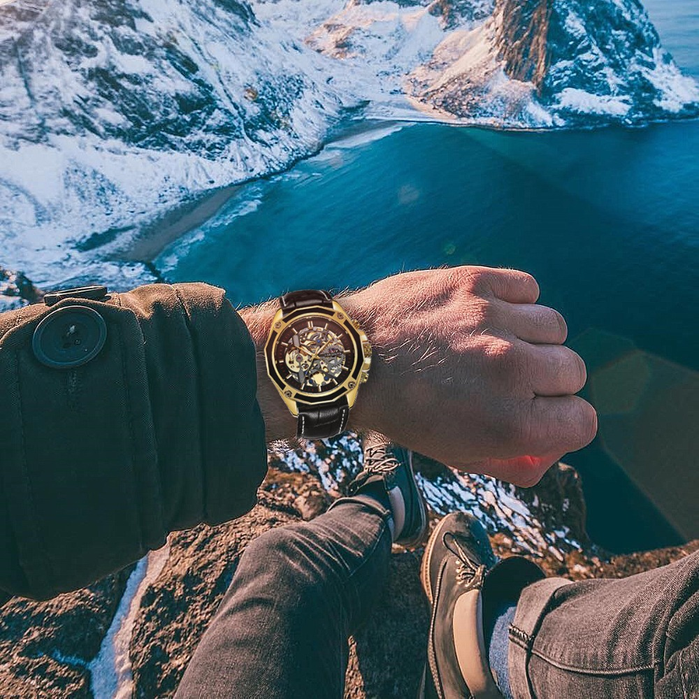 H3562d8de1b5b494ca5271325891932b9h FORSINING Golden Top Brand Luxury Auto Mechanical Watch Men Stainless Steel Strap Skeleton Dial Fashion Business Wristwatches