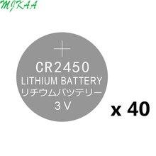40x CR2450 3V Button Cell Coin Batteries Car Remote Control Alkaline DL2450 CR2450N ECR2450 BR2450