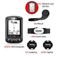 GPS велосипедный компьютер i GPS порт iGS618 Gps трекер велосипедная навигация Спидометр IPX7 3000 часов данных цветной экран одометр