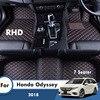 Rhd Custom Auto Vloermatten Voor Honda Odyssey 2018 7 Zits Lederen Waterdicht Tapijten Auto Styling Voet Pads Auto Accessoires