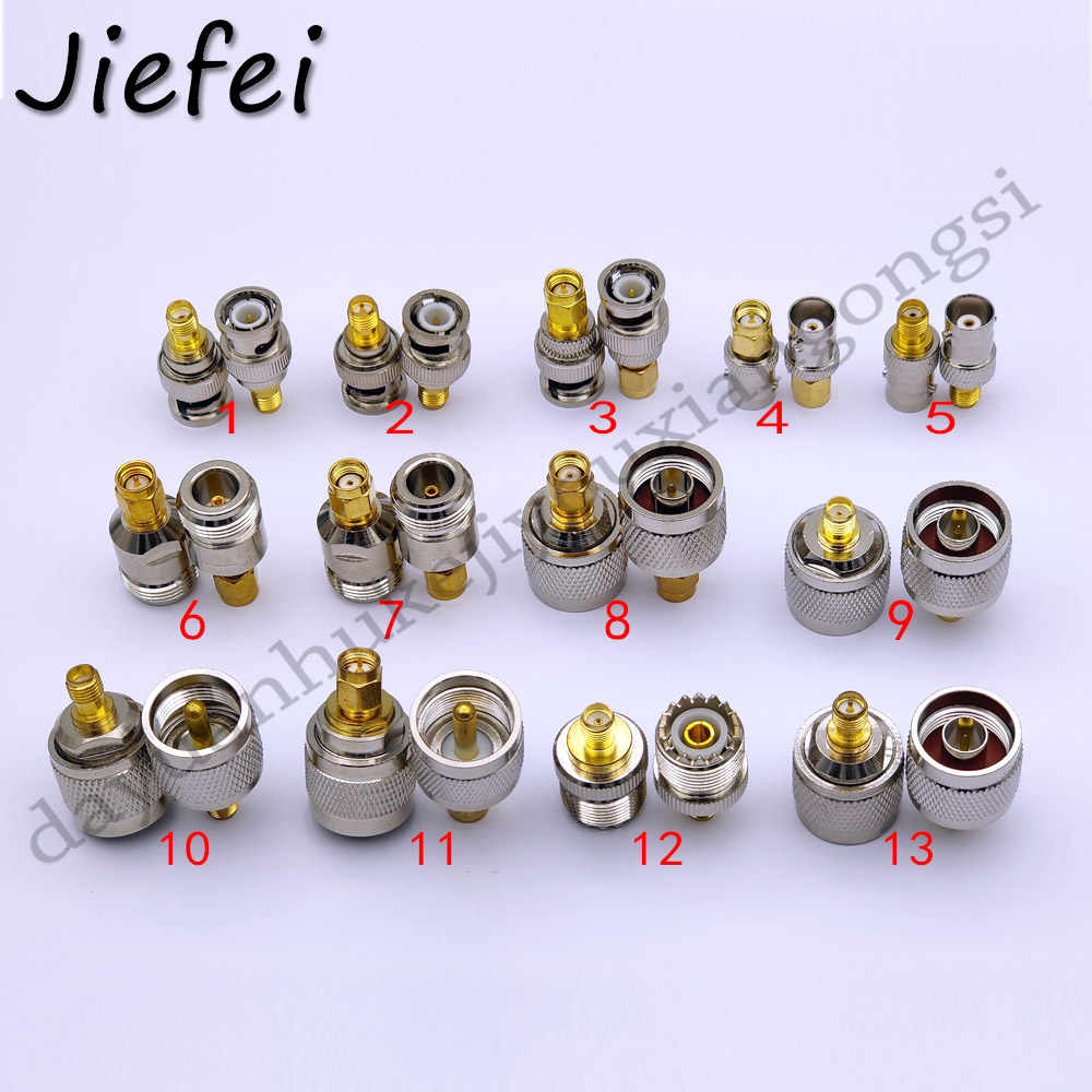 13 Type ( RP ) SMA Female Or Male Plug To N UHF SO239 PL259  BNC Male / Female Connector RF Adapter
