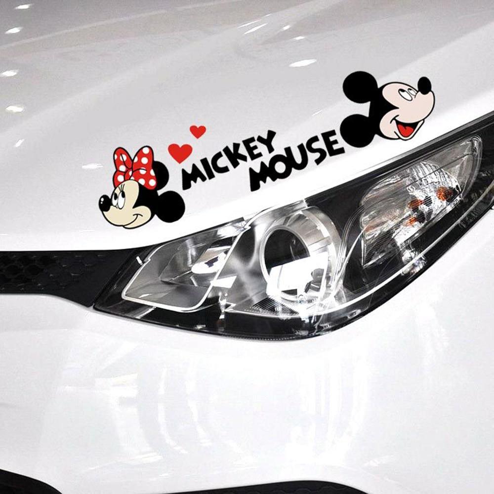 Aliauto автомобильные наклейки и наклейки для автомобиля с милым рисунком Микки Мауса и Минни, аксессуары для Volkswagen Golf Ford Focus Toyota