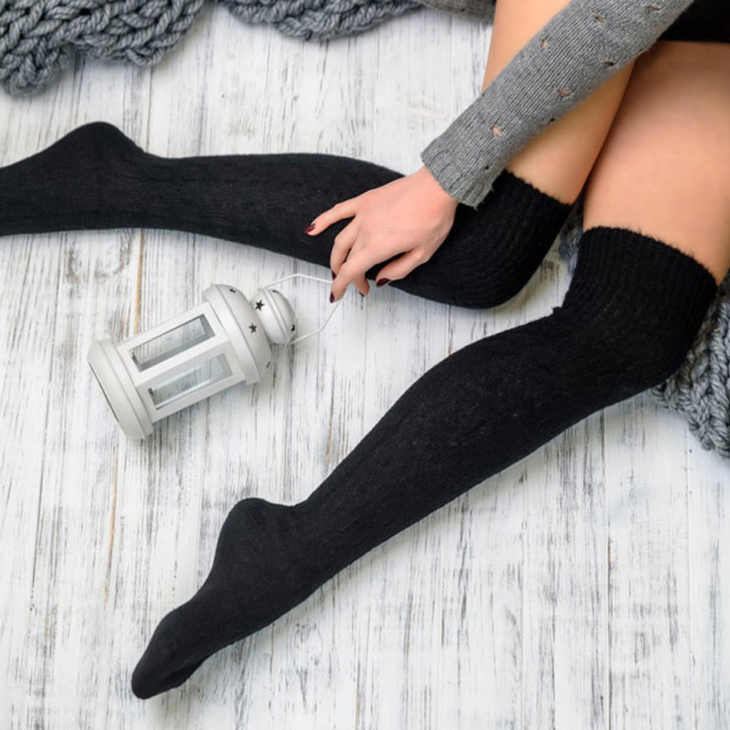 Winter Warme Socken Mode Strümpfe Beiläufige Baumwolle Oberschenkel Hoch Über Knie Acryl Hohe Socken Mädchen Frauen Weibliche Lange Socke 2020