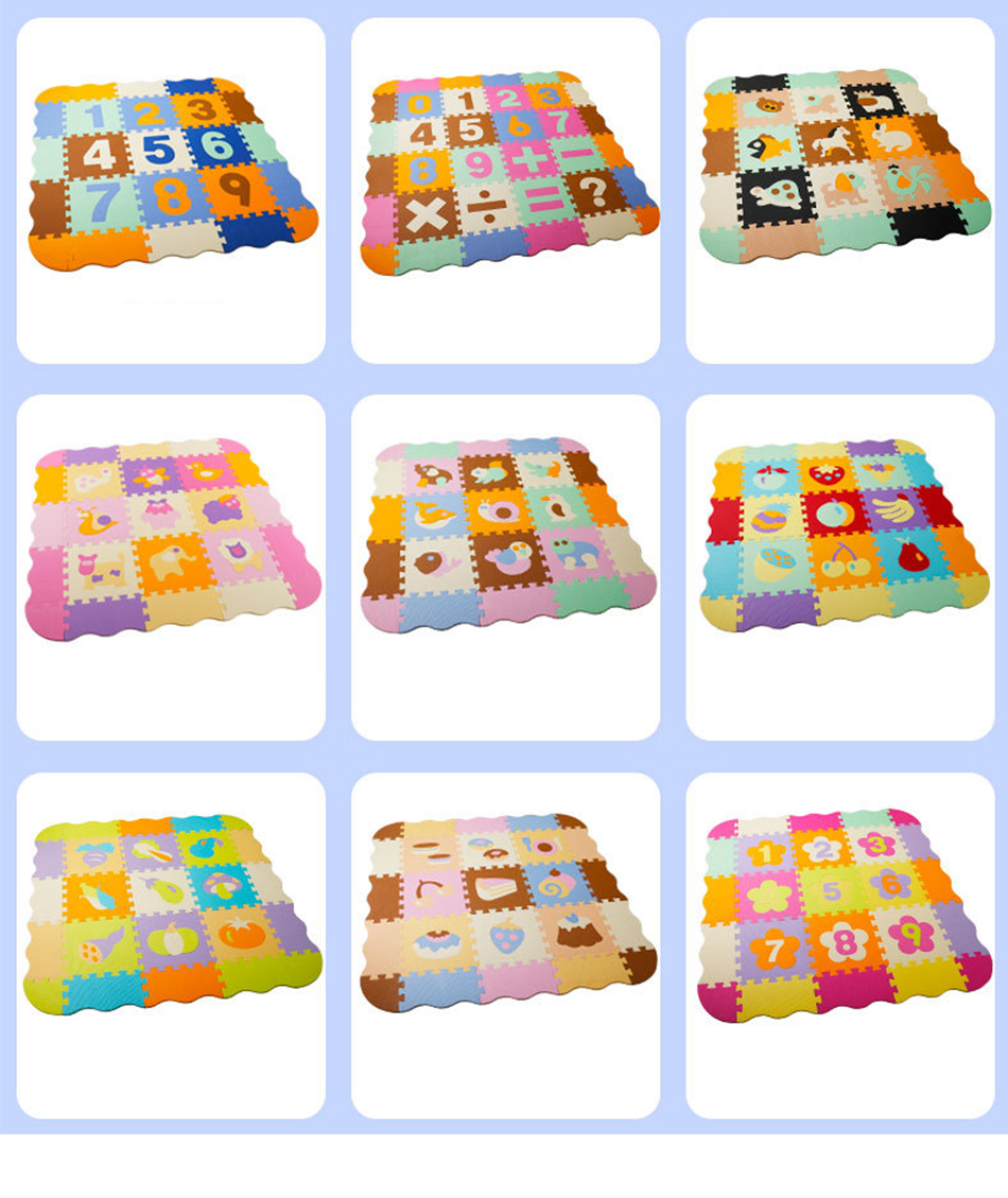 H356348da40754105a865d7242a49f345n 25Pcs Kids Toys EVA Children's mat Foam Carpets Soft Floor Mat Puzzle Baby Play Mat Floor Developing Crawling Rugs With Fence