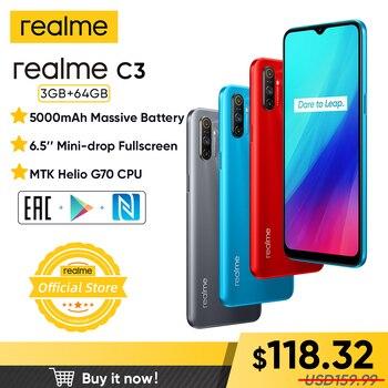 realme C3 Unlockphone 3GB RAM 64GB ROM Mobile Phone MTK Helio G70 12MP Camera 6.5