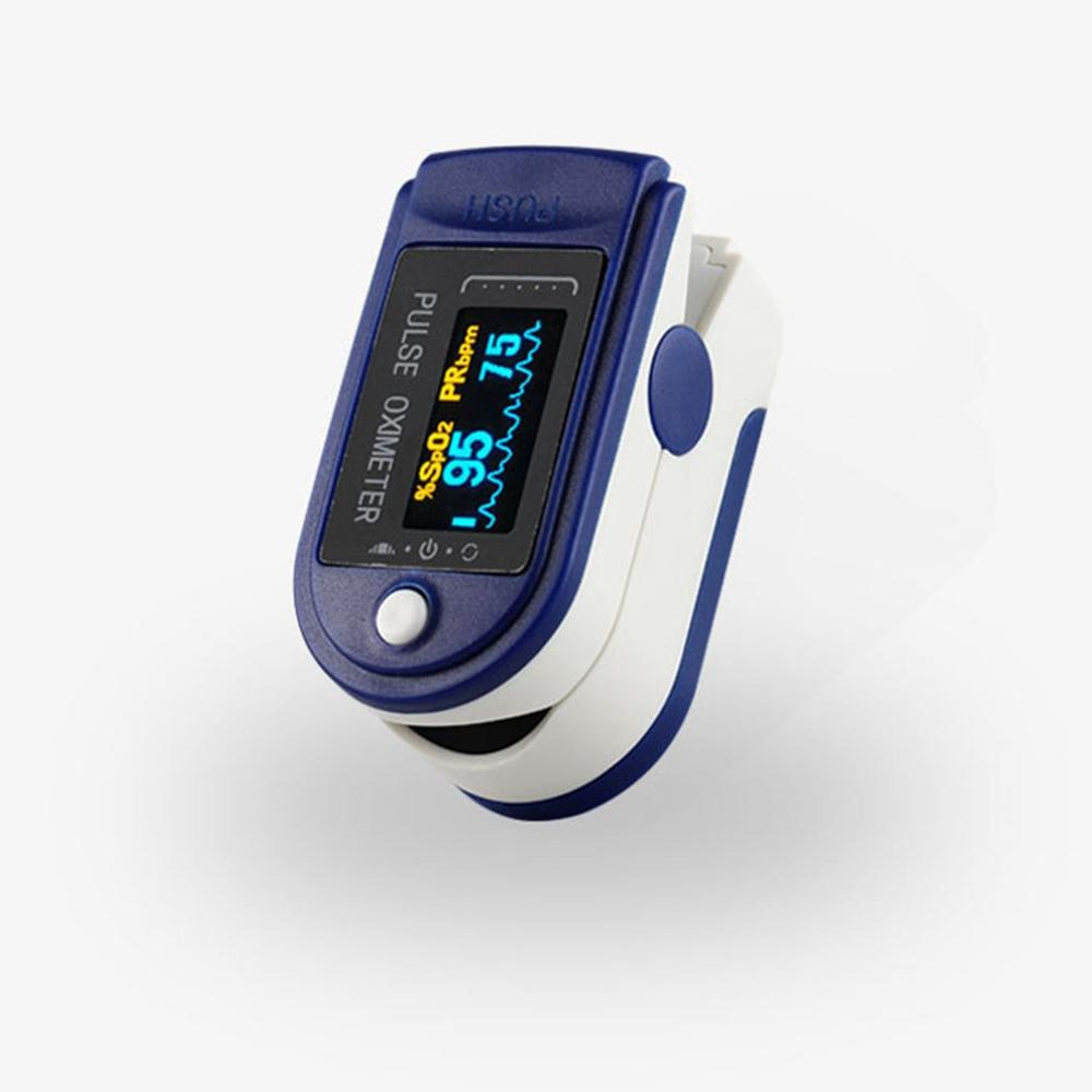 Fingertip Pulse Oximeter New Home Blood Oxygen Saturation Monitor ABS PC Low  Power Consumption