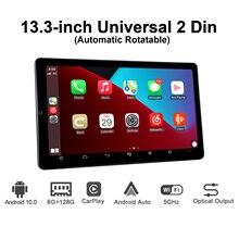 "2 din New Product 13.3"" Android 10.0 Car Radio Stereo  Autoradio HD 1920*1080 6GB 128GB Touch Screen MP5 Bluetooth USB TF FM"