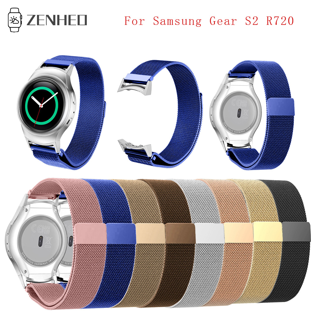 20mm Stainless Steel Milanese Watchband for Samsung Gear S2 R720 Smart Watch Strap Accessories Band