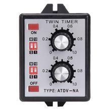 On Off Twin Timer Relay Knob Control Time Switch Relay On Off Twin Timer Relay Multi-Section ATDV-NA AC110V/220V authentic original stp 3d fotek time relay multi function digital timer