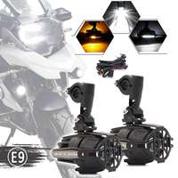 3 in 1 40W Wihtie+Amber Motorcycle LED Headlights Projector+Side Ligh For BMW R1200GS ADV F700GS F650GS F800GS Versys KTM