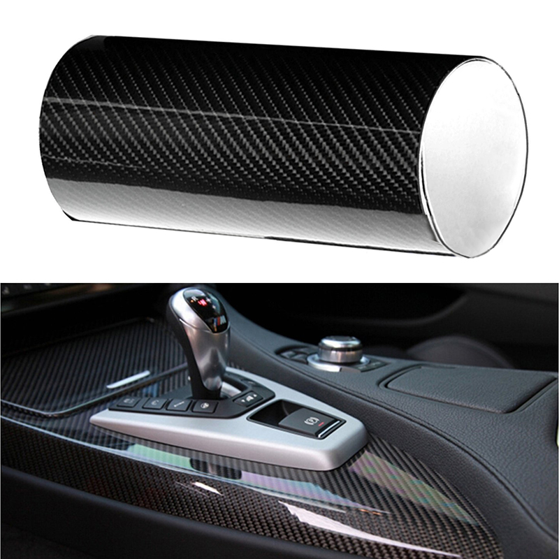 30 X 152CM 6D Car Stickers And Decals Styling Tuning Carbon Fiber Vinyl Film Waterproof Sticker Car Wrap Roll Auto Accessories