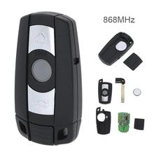 868MHz 3 Buttons Remote Key for For-BMW CAS3 System  X5 X6 Z4 1 / 3 / 5 / 6 / 7 Series Vehicle Smart Key 2002-2013 New Listing 315 433 868 mhz smart remote key 4 buttons for bmw 3 5 7 series cas4 system 2009 2010 2011 2012 2013 2014 2015 2016 kr55wk49863