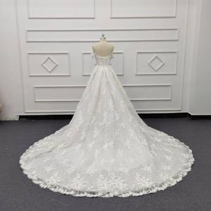 Image 2 - Eslieb 3d цветочное кружевное свадебное платье с жемчугом 2020 Милое Свадебное Платье