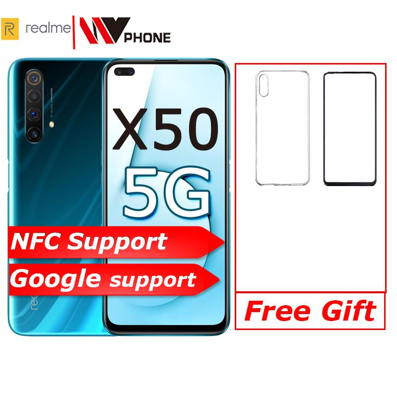 Realme X2 X 2 Moblie Telefon Snapdragon 730G 64MP Kamera 6,4 ''Full Screen NFC OPPO Handy VOOC 30W Schnelle Ladegerät