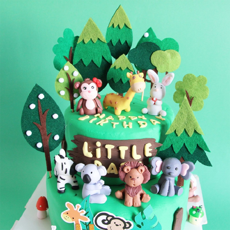 Cool 1Pc Cute Birthday Cake Toppers Forest Animal Tigers Squirrel Personalised Birthday Cards Paralily Jamesorg