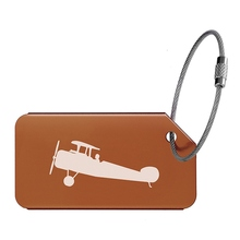 Fashion Luggage Tag Aluminum Alloy Tags Name Suitcase Address Outdoor Picnic Camping Travel Accessories