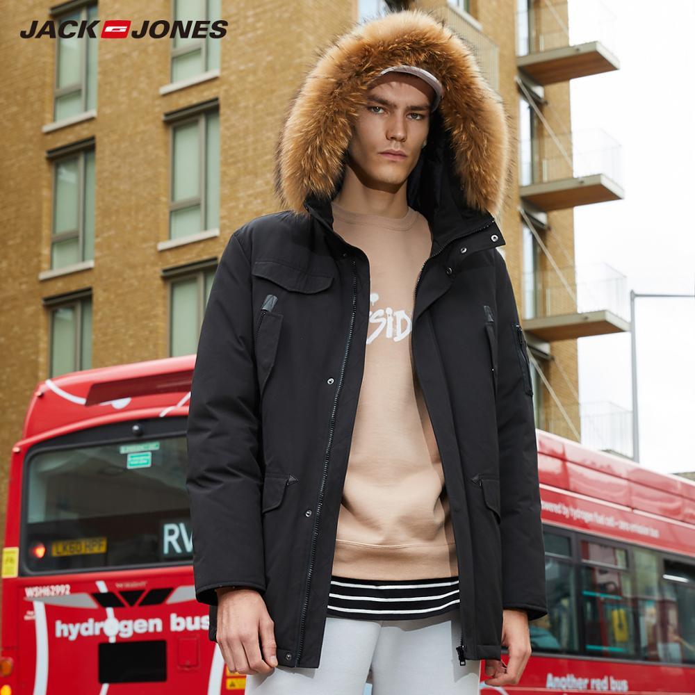 JackJones 男性の冬付きダウンジャケット屋外冬のコート、男性カジュアルファッションコート紳士服 218312512  グループ上の メンズ服 からの ダウンジャケット の中 1