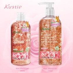 Kustie essenza di fiori di gel doccia rosa 380 ml + 720 ml di profumo profumo corpo idratazione profonda idratante cura della pelle regalo di famiglia gel doccia