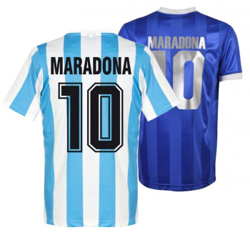 2021 Diego Maradona Hand of God Retro classic 1986 Home Away Camiseta jersey customize High quality Sergio Batista Maradona image