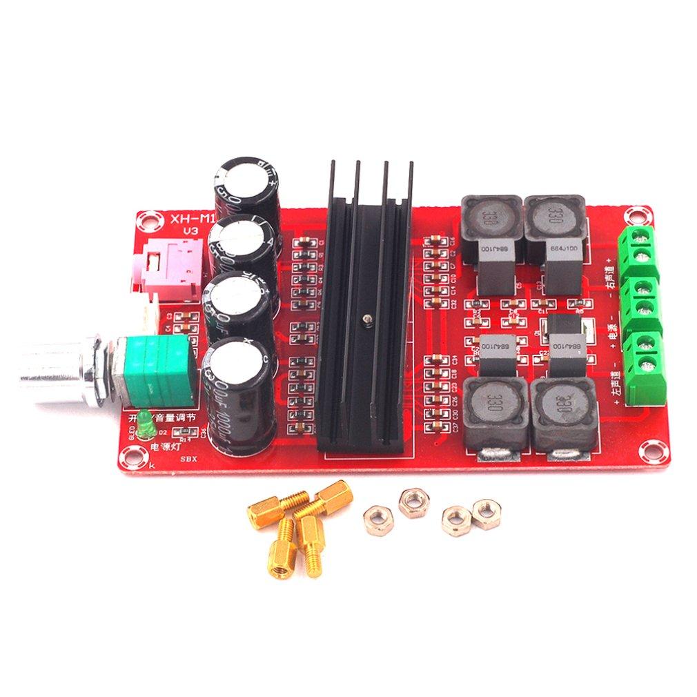XH-M190 TDA3116D2 Ad Alta Potenza Amplificatore di Potenza Digitale di Bordo TPA3116 Amplificatore A Due Canali Bordo di 12-24V
