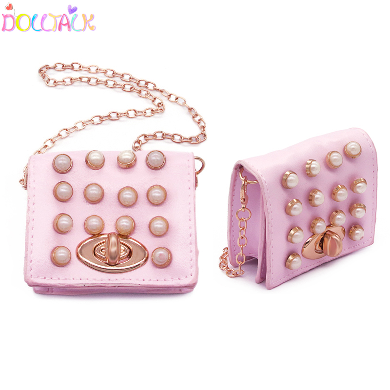 Mosaic Pearl High-quality And Exquisite Bag For Doll Shoulder Bags Crossbody Bag For Dolls Slao For Little Girls Accessories