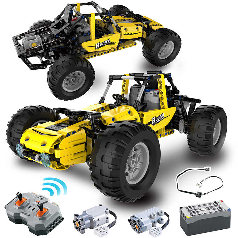 522 pcs 2.4 Ghz Legoing Technic Stad RC All Terrain Off-Road Klimmen Vrachtwagens Auto Off-Road Racing bouwstenen Bricks Speelgoed Geschenken