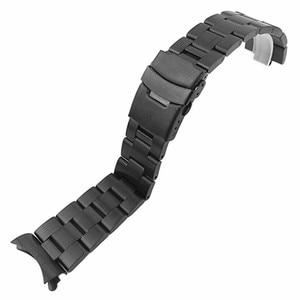 Image 3 - Pulseira de aço inoxidável arco borda cinta boca pulseira metal banda 20 22mm relógio para seiko ect